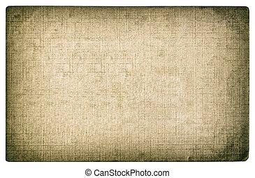 Grungy textured paper background. Photo card edges vignette