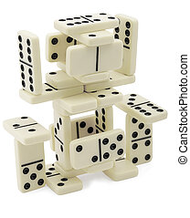 Abstract figure of dominoes - The figure of dominoes...