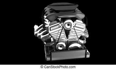 loop rotate car engine - rendered in PNG with alpha channel...