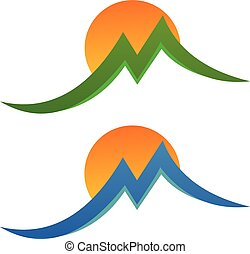 letters m or mountain - logo for business