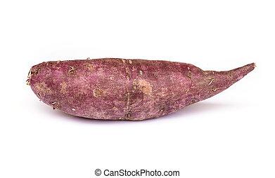 Sweet purple potato . - Sweet purple potato isolated on...