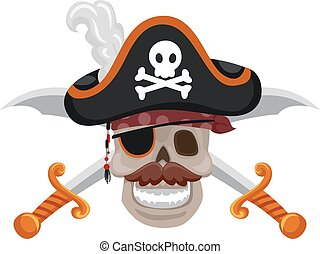 Pirate Skull with Sword