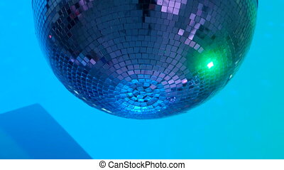 Party lights disco ball - Shiny disco ball on nightclub...