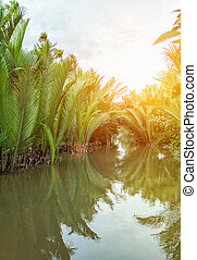 Famous destination on the Mekong delta in Vietnam - Famous...
