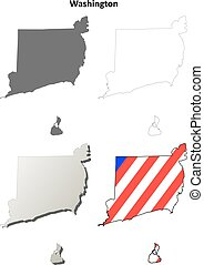 Washington County, Rhode Island outline map set - Washington...