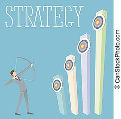 Vector Flat Business Concept - Vector flat business strategy...