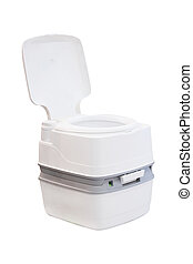 chemical toilet - The image of a chemical toilet
