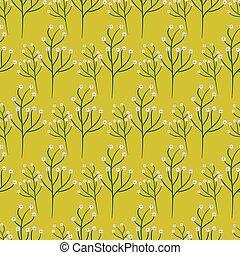 Wild flower spring field seamless pattern. - Wild flower...