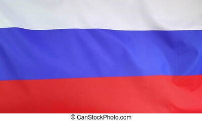 National flag of Russia with wind