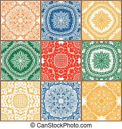ceramic tiles set - Glazed ceramic tiles set Colorful...