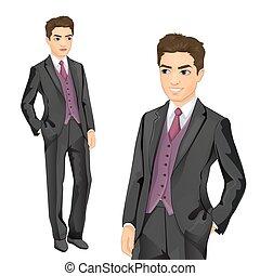 Businessman Elegantly Dressed - Vector illustration of...