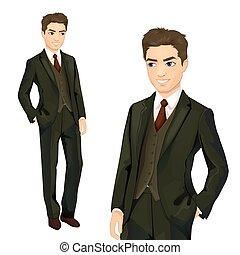 Elegantly Dressed Businessman - Vector illustration of...