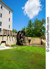 Water mill - Old water mill in the town of Bridgeton,...