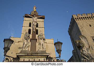 Avignon Cathedral and Palais des Papes Palace, France