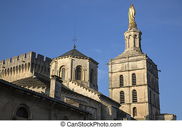 Avignon Cathedral Tower Facade, France