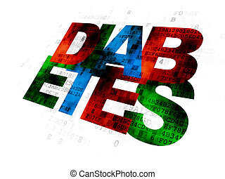 Health concept: Diabetes on Digital background