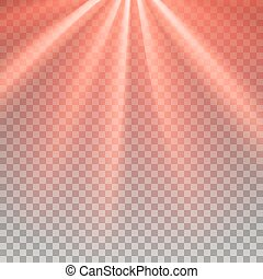 Red flare rays