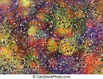 Abstract burst holiday manycolored confetti backgrounds