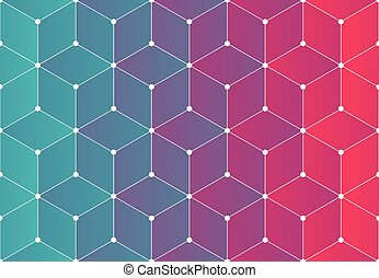 Modern background pattern - Modern network background...