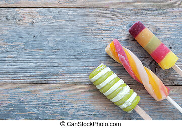 Ice lollies background
