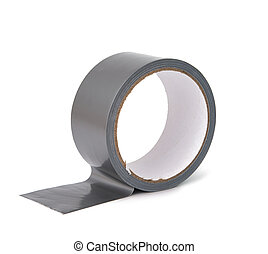 gray tape isolated on white background