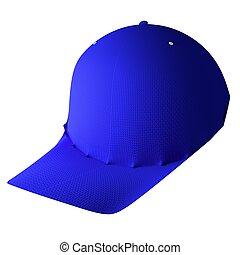 Baseball hat isolated over white, 3d rendering