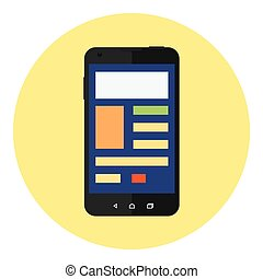 Mobile Web Page - Mobile Phone With Web Page On The Screen