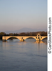 St Benezet Bridge; Avignon; France
