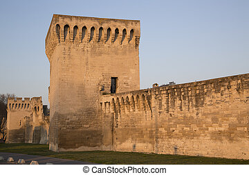 City Walls, Avignon, France - Detail on City Walls, Avignon,...