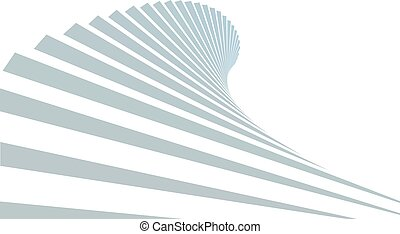 Stair in sky on white background