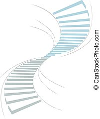 Stair in sky1 - stair as a symbol of height is in...