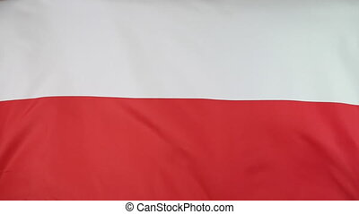 Fabric flag of Poland