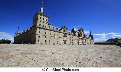 Royal Monastery of San Lorenzo de El Escorial near Madrid,...