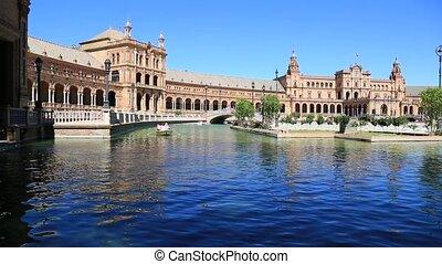 Seville, Spain,Plaza de Espana - Seville, Spain - famous...