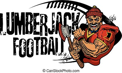 lumberjack football team design with mascot for school,...