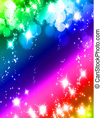 glowing glitter - bright glitter on a soft rainbow colored...