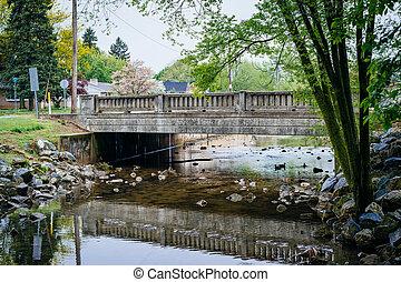 Bridge over Willis Run, in York, Pennsylvania