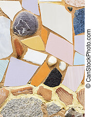 Recycled tiles decoratively reused - Recycled tiles...