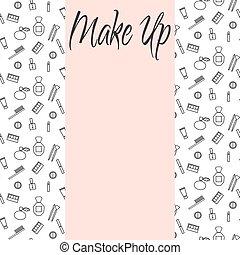 Beauty makeup accessories center banner flyer template.