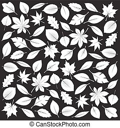 Composition of White Leafs Vector Illustration - Composition...