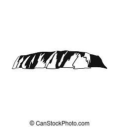 Majestic Uluru icon, simple style - Majestic Uluru icon in...