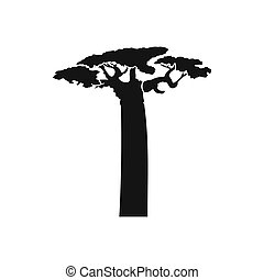 Baobab tree icon, simple style - Baobab tree icon in simple...