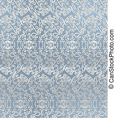 Seamless pattern vintage style Vector background Floral...