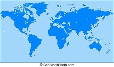 Blue similar world map World map blank World map vector...