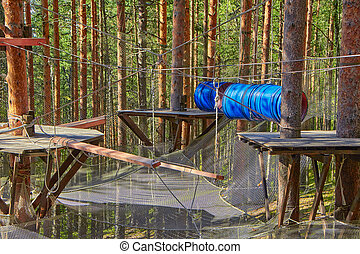 Forest Rope Park Challenge - Pine Forest Rope Park Challenge...