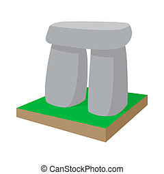 Stonehenge icon, cartoon style - Stonehenge icon in cartoon...