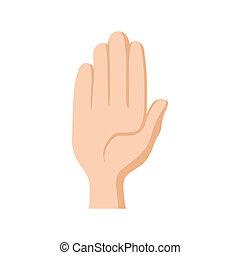 Stop symbol icon, cartoon style - Stop symbol icon in...