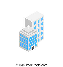 Office building icon, isometric 3d style