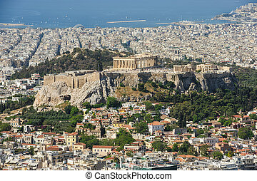 Cityscape of modern Athens, Greece - Cityscape of Athens,...