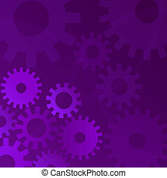 Gears Illustration - Illustration of gears on a purple...